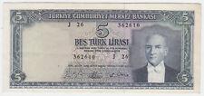 Turkey P 174 a - 5 Lira 1965 Series J26 - aUNC