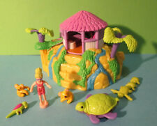 Polly Pocket Mini ♥ Süßes Karibik Haus ♥ Tropical Pets ♥ 100% Komplett ♥ 2000 ♥