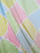 "TWIN Fitted Sheet  Patchwork Print Lattice Sweet Spring Color  Percale 8"" Drop"