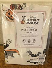 Pottery Barn Kids Organic Cotton Mickey Mouse Halloween 🎃 PILLOWCASE ~NWT