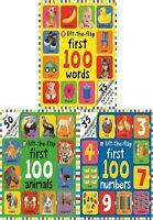 First 100 Lift the Flap 3 Books Collection Set Farm Words, Building Vocabulary