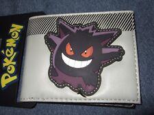 New Men's Pokemon Mad Angry Gengar Anime Nintendo Game Character Bi-Fold Wallet