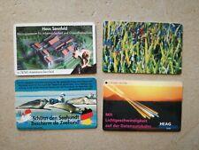 #477TK Telefonkarten Phonecard Deutschland O Karte 4 Stück Bosch BG Seehund voll