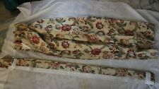Beautiful Custom Made Floral Lined Pinch Pleat Drapes 2 Panels