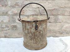 1940s Vintage Handmade Primitive Iron Mud Bucket Collectable