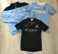 Boys kids bundle Manchester City jacket football shirts size LB/152 Umbro Nike