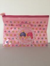Sanrio 1999 Little Twin Stars Large Pencil Multipurpose Bag Case New Without Tag