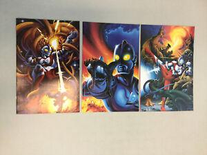 Ultraman 1-3 Virgin Covers Complete Set 1 2 3 Ultracomics Comics 1993 (UM03)