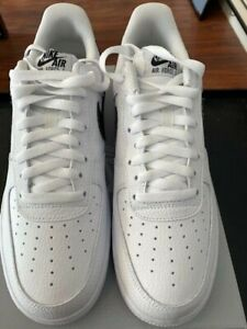 Nike Air Force 1 CT2302-100 - White / Black - Size 10 - New with Box