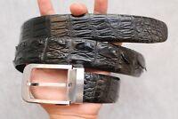 Black Genuine Alligator, CROCODILE Leather Skin Men's Belt #LT003