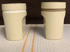 Tupperware Vintage Salt And Pepper Shakers Almond Beige 1471