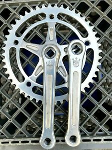 """Vintage SUGINO MIGHTY COMPETITION Track Crankset NJS 165mm 49t 1/8"""" Chainring"""