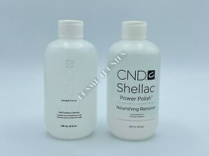 CND Service Essential ScrubFresh Cleanser & Nourishing Remover 8 OZ / 236mL EACH