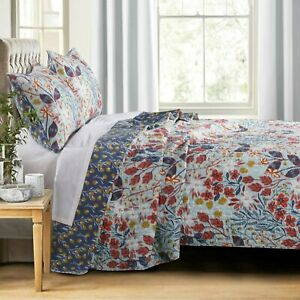 Barefoot Bungalow Perry Reversible Quilt & Pillow Sham Set Multicolor