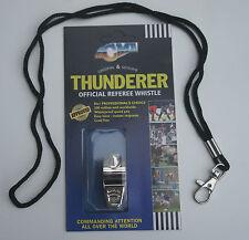 ARBITRO FISCHIO E CORDINO Nickle Plated Loud Thunderer FISCHIO CON CORDINO
