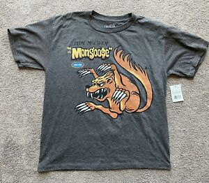 NHRA Tom McEwen The Mongoose Boys / Girls Grey T Shirt Size Large 14-16 - New