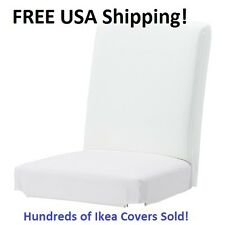 "Ikea HENRIKSDAL Chair Cover Slipcover GOBO WHITE 21.25"" (54cm) New! Sealed!!"