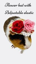 Flower Hat for Guinea Pig Or Small Pet