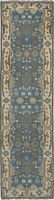 """Hand-knotted Carpet 2'7"""" x 9'10"""" Traditional Vintage Wool Runner Rug"""