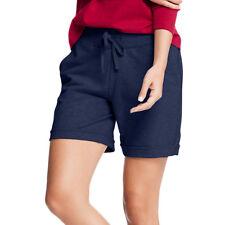 Hanes Women's French Terry Bermuda Short, Black, Large