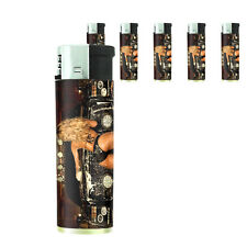 Texas Pin Up Girl D4 Lighters Set of 5 Electronic Refillable Butane
