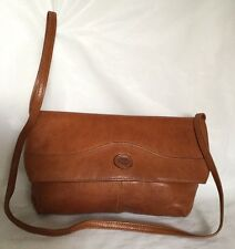 Large FAIGEN Tan Leather Clutch/Cross Body/Shoulder Bag / Handbag