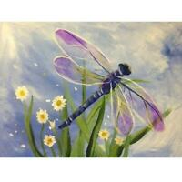 Dragonfly DIY 5D Full Drill Diamond Painting Embroidery Cross Stitch Kit Crystal