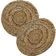 "Rounded Table Runner Jute Rug Door Mat 12"" Floor Carpat Sofa Designer Carpat Rag"