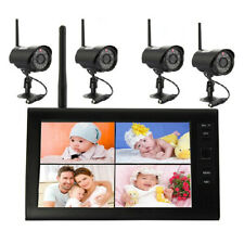 "D15 2,4g Wireless Camera Set 4x CCTV Camera + 7"" TFT Monitor Video Surveillance"