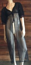 Vintage Belle Smith Black Size Small Lace and Chiffon Robe
