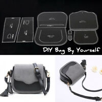 DIY Shoulder Bag Handbag Pattern Stencil Template Acrylic Leather Craft   ↗