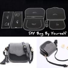 DIY Shoulder Bag Handbag Pattern Stencil Template Acrylic Leather Craft XKB-75