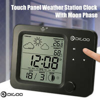 Digoo Wireless Touch Thermometer Hygrometer Forecast Weather Station+Alarm Clock