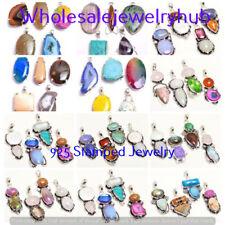 Mixed Gemstone 50pcs Wholesale Lots Jewelry Pendant Lot