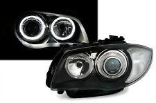 Black CCFL Style Angel Eye Headlights Headlamps BMW e81 e82 e87 e88 1 Series