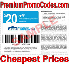 1x Lowes $20 off $100 Instore/Online Coupon - Next Day Shipping - READ ITEM DESC
