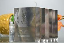 6x  YSL L'HOMME & ULTIME by Yves Saint Laurent Sample Spray Vial 1.2 ml .04 oz