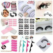 3D Mink False Eyelashes Long Thick Natural Half Fake Eye Lashes Clip/Case Set~