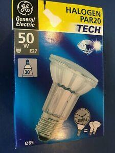 General Electric Halogen 50W 240V PAR20 2000h E27 Spot 30° Lamp 40365