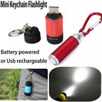 blanche batterie mini l'usb rechargeable lampe del lampe torche porte - clés