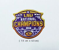 LSU National Champions 2019  Sport Logo   Patch Iron and sewing on Clothes.