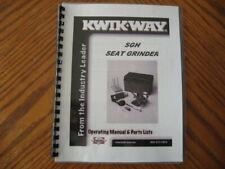 Kwik Way Sgh Valve Seat Grinder Set Manual