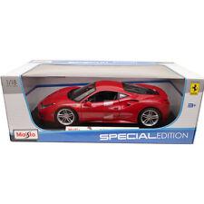 Maisto Ferrari 488 GTB 1:18 Diecast Model Car Red
