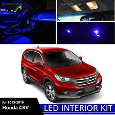8PCS Blue Interior LED Bulbs For 2013-2016 Honda CR-V CRV White for License