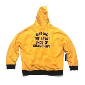 Men's Nike Evolution of the Swoosh Club Hoodie Sweatshirt CQ7191-740 Size Medium