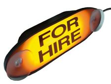 TAXI 'FOR HIRE' LIGHT AMBER ORANGE YELLOW SIGN LED'S CONNECTS TO ANY TAXI METER