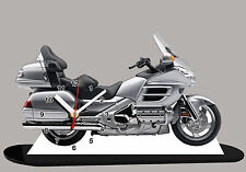 MODEL CARS, MOTO, HONDA GOLDWING-02, 11,8x 7,8 inches with Clock