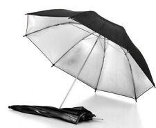 Umbrella Reflector Black Sliver Photo Studio Flash Light Reflective Photography