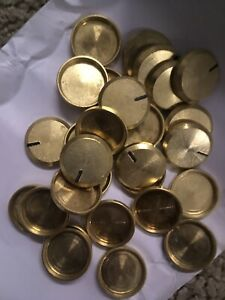 The Fisher knob brass cap