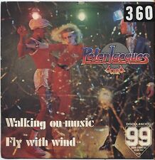 "PETER JACQUES BAND - Walking on music - VINYL 7"" 45 LP ITALY 1979 VG+ COVER VG-"
